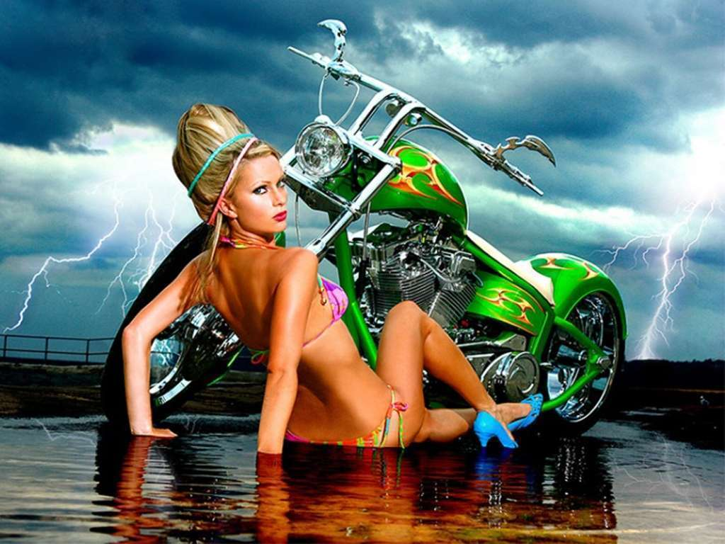 Brooke With Chopper Wallpaper  Hd Car Wallpapers