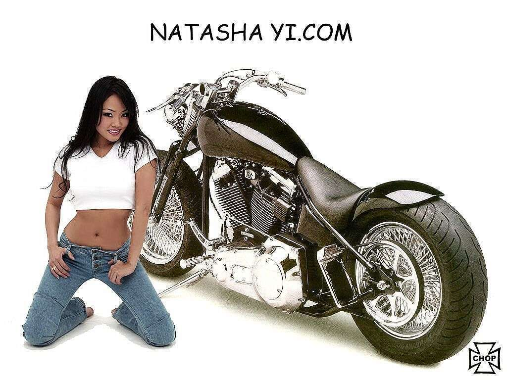 Sexy Women On Harley Davidson Motorcycle Wallpaper  Pretty Asian