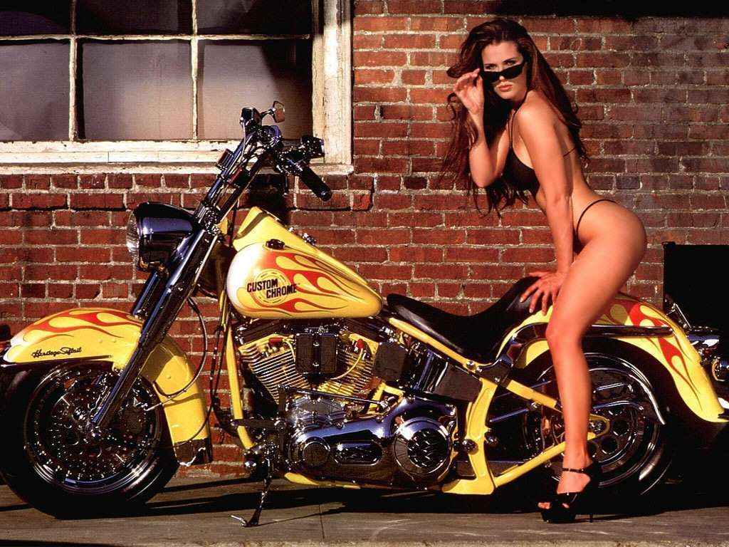 Chopper Bike Babe Wallpaper