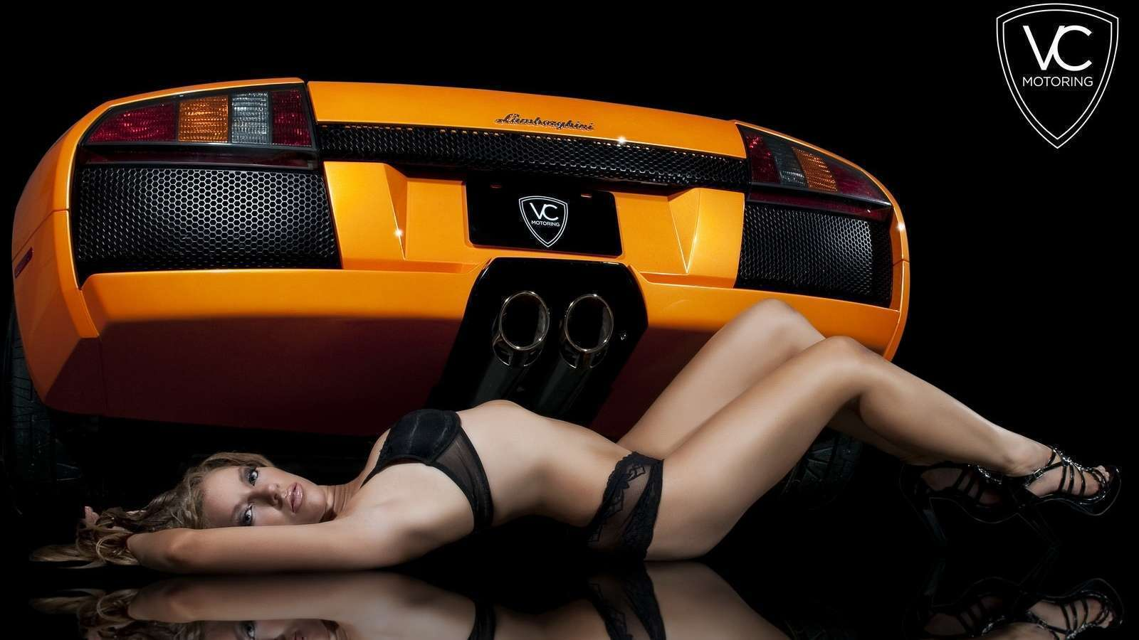 Hot Lady Laying Beside Lamborghini Wallpaper Wallpapers