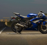 2012 yamaha yzf r6 blue wallpapers