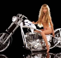 babe and bike wallpaper