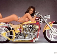 bike and hot babe wallpaper
