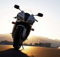 bike the setting sun wallpaper wallpapers