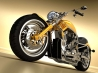 harley davidson chopper yellow wallpapers