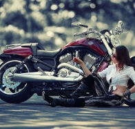 harley davidson girl wallpapers