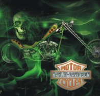 harley davidson green skull wallpaper wallpapers