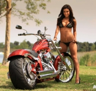 hot baby with motorbike wallpaper wallpapers