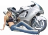 hot chick bike model wallpaper 61
