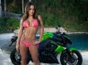 motorbike and hot babe wallpaper wallpapers