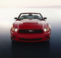 mustang red car wallpaper