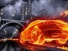 vehicles car on fire wallpaper